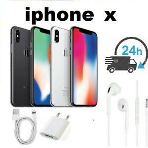 APPLE IPHONE X 64GO 256GO NOIR BLANC Reconditionné + grade Garanti 1 AN