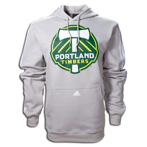 Adidas MLS Portland Timbers 2011 - 2012 Soccer Hooded Top Grey Brand New