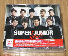 SUPER JUNIOR SuperJunior JAPAN 1ST ALBUM HERO KOREA VERSION 2 CD + 1 DVD SEALED