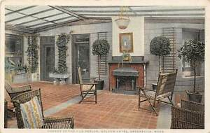 Image Is Loading Greenfield Ma Weldon Hotel Sun Parlor Interior Detroit