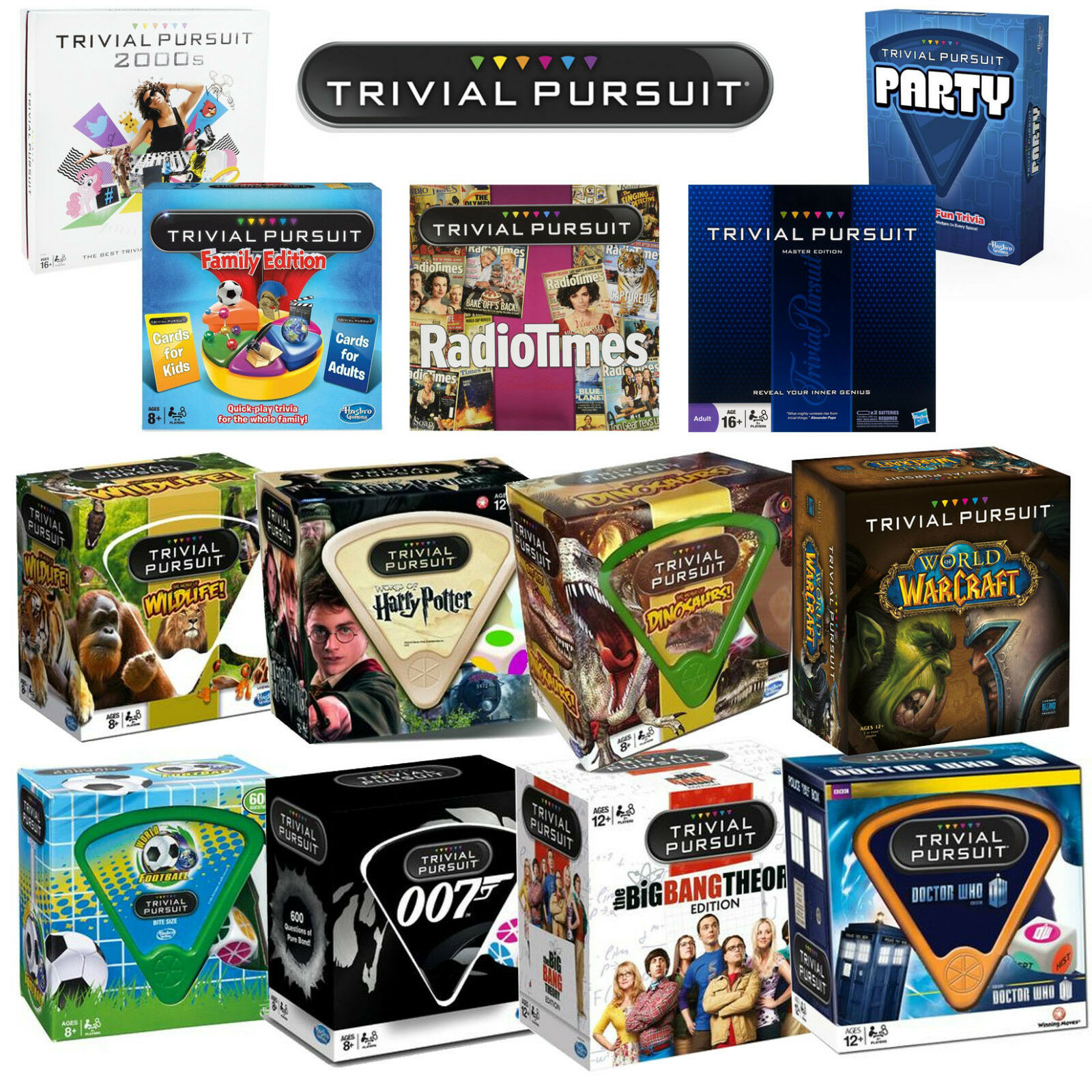 TRIVIAL PURSUIT THE WORLDS BEST QUIZ BOARD GAME - CHOOSE EDITION - NEW & SEALED