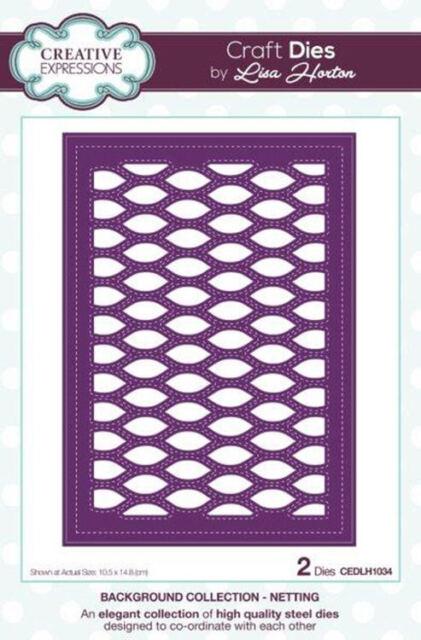 LISA HORTON Craft Dies BACKGROUND COLLECTION Stitched Boxes CEDLH1035 2 Dies