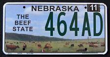 "NEBRASKA "" BEEF STATE - COWS - CATTLE "" VERY  RARE "" NE Specialty License Plate"