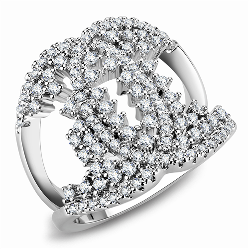 1448 Designer Sparkling Simulated Diamond Ring Beautiful Clear Showstopper
