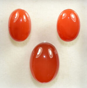 32-85-Cts-100-Natural-3-Pcs-Set-Of-Carnelian-Untreated-Cabochon-Loose-Gems