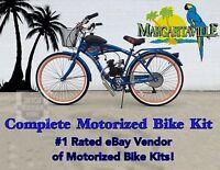 Margaritaville Cruiser Bicycle And 66/80cc Engine - Motorized Bike Kit - Diy Kit