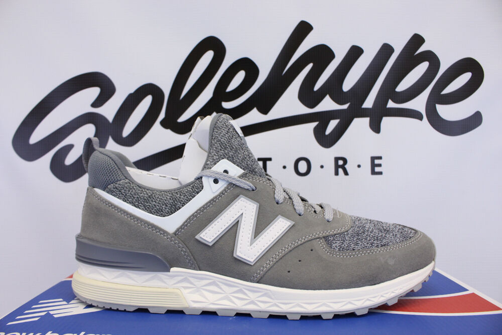 NEW BALANCE 574 SPORT GREY WHITE OFF WHITE SUEDE FRESH FOAM MS574BG SZ 9