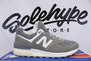 new style ea20a 0d448 Details about NEW BALANCE 574 SPORT GREY WHITE OFF WHITE SUEDE FRESH FOAM  MS574BG SZ 8