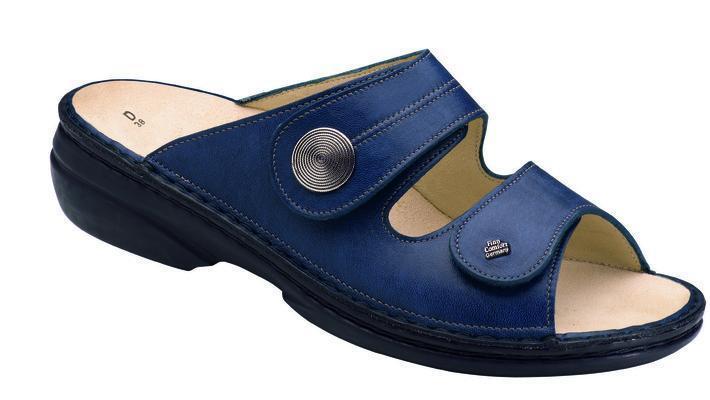 Finn Comfort  Sansibar blau  Damenpantolette Größe 35