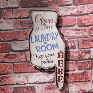 Laundry-Room-here-Vintage-LED-Light-Metal-Tin-Signs-Laundry-Shop-Wall-Decor