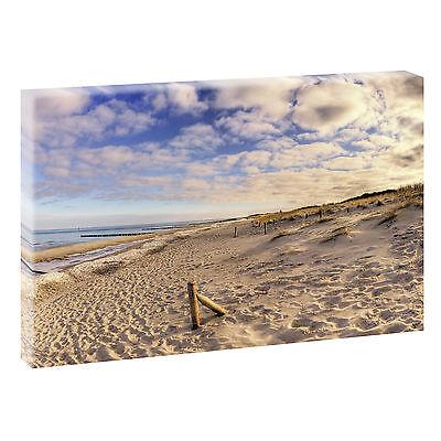 Panoramabilder Keilrahmen Bild Leinwand Meer XXL Dünen Wandbild 120 cm*40 cm 440