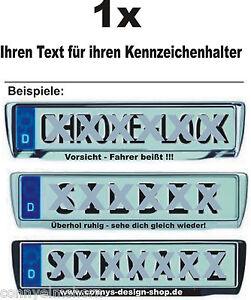 1-Aufkleber-fuer-Kennzeichenhalter-mit-ihren-Text-Autoaufkleber-Sprueche