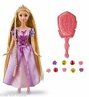 Disney Princess Tangled Grow & Style Rapunzel Doll Hair Grows Hair Accessories