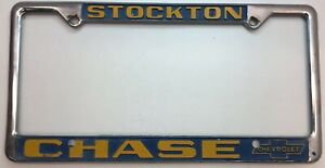 rare chevrolet stockton ca chase chevrolet license plate frame ebay ebay