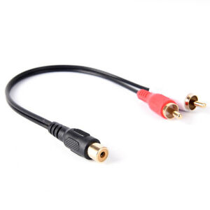 RCA-Female-To-2-RCA-Male-Gold-Plated-Audio-Adapter-Y-Splitter-Cable-ESJB