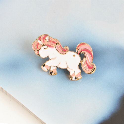 Horse Pony Enamel Pin Brooch Pins Up Little Girl Jewelry Horse Lover Gift