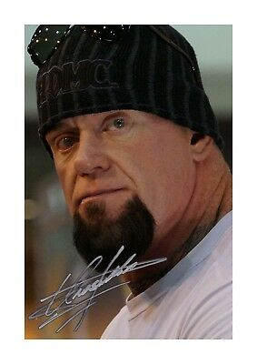 The Undertaker Signed Mounted Photo Display Mark William Calaway