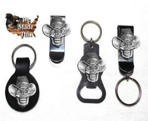 Custom-Cowboy-Skull-Bottle-Opener-Key-Fob-Key-Holder-Money-Clip