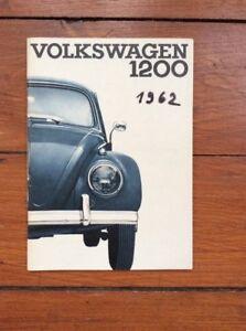 Sehr-sauber-erhaltene-Betriebsanleitung-Handbuch-Volkswagen-1200-Kaefer-von-1962