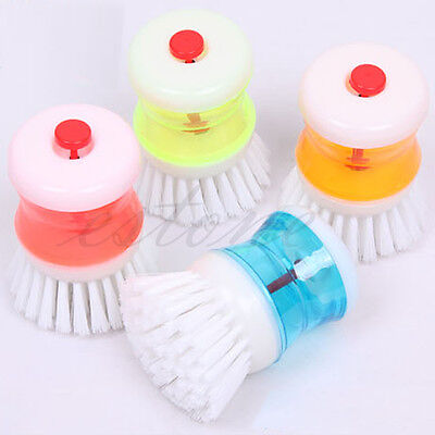 1Pcs Kitchen Wash Tool Pot Pan Dish Bowl Palm Brush Scrubber Cleaning Cleaner