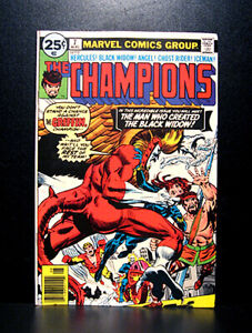 COMICS-Marvel-The-Champions-7-1976-1st-Darkstar-Yuri-Petrovitch-app-RARE