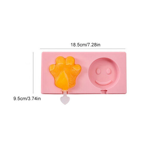 Cartoon Silicone Frozen Ice Cream Mold Juice Popsicle Maker Ice Lolly Pop Molds