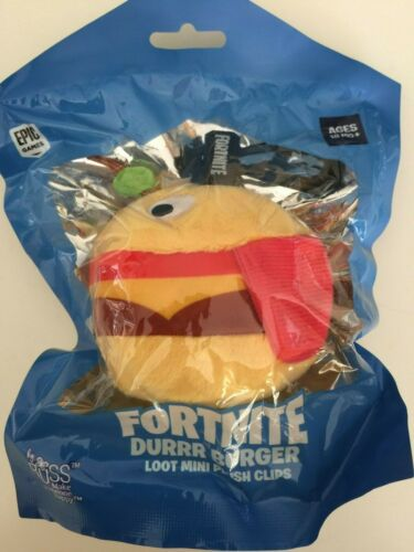 FORTNITE DURRR BURGER Loot Mini Plush Clips SERIES 1 NEW 2019