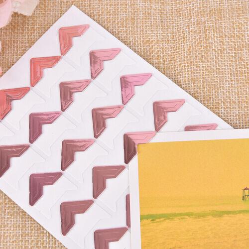 120pcs Self-Adhesive Photo Frame Corner Sticker Craft Scrapbook Album Sweet
