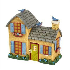 Dollhouse Miniature Mary Engelbreit Fairy Gardens Yellow Cherry Birdhouse