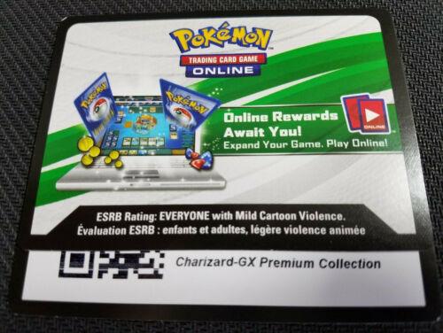 Pokemon Charizard GX SM60 Premium Collection Code Card Messaged