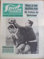 SPORT MAGAZIN KICKER  3 A- 11.1. 1965 * Schumacher Willi Holdorf Uruguay-DDR 0:2