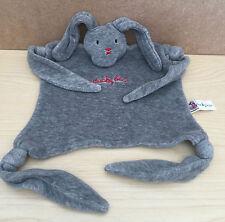 DUCKY BEAU GREY Bunny Rabbit Comforter Blankie Soft Toy Rare
