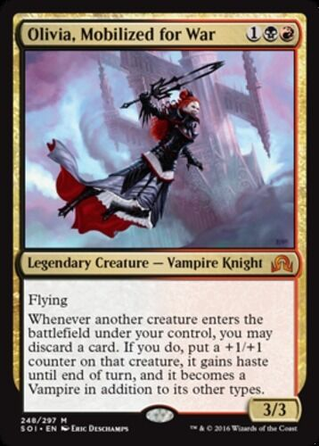 Mobilized for War MTG Shadows over Innistrad M//NM x1 Olivia English