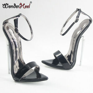 406c2cf0e6f Details about New 18cm Spike Metal Heel Sexy High Heel Ankle Straps Pointed  Toe Women Sandals