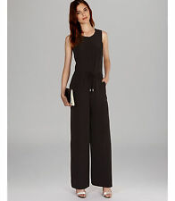 5a2a00ff1be New. Karen Millen Black Sporty Zip Wide Leg All In One Trousers Jumpsuit  Dress Up 12