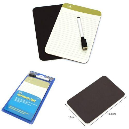 2pcs Rewritable Magnet Magnetic Memo Note Memory Pad Board Marker Refrigerator