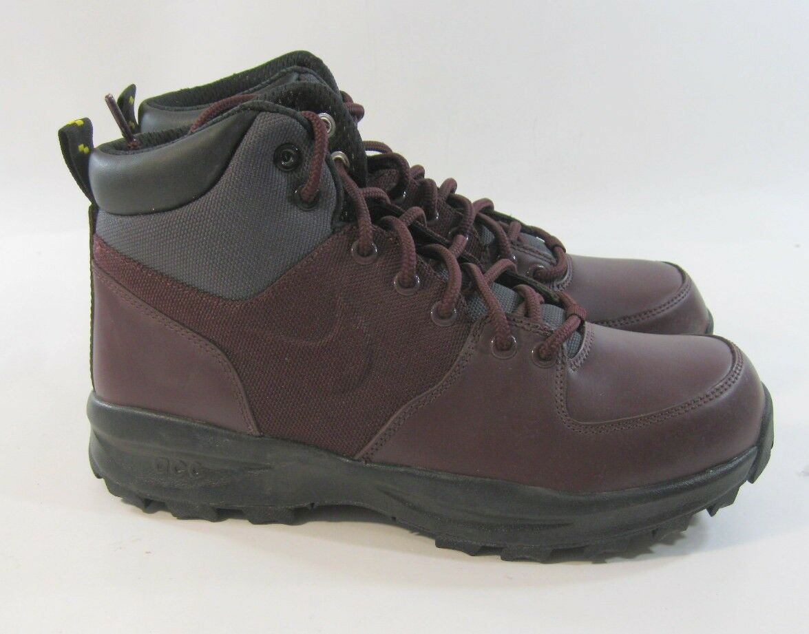New Nike Manoa Deep Burgundy Anthracite 472780 600 Mens Athletic Size 8