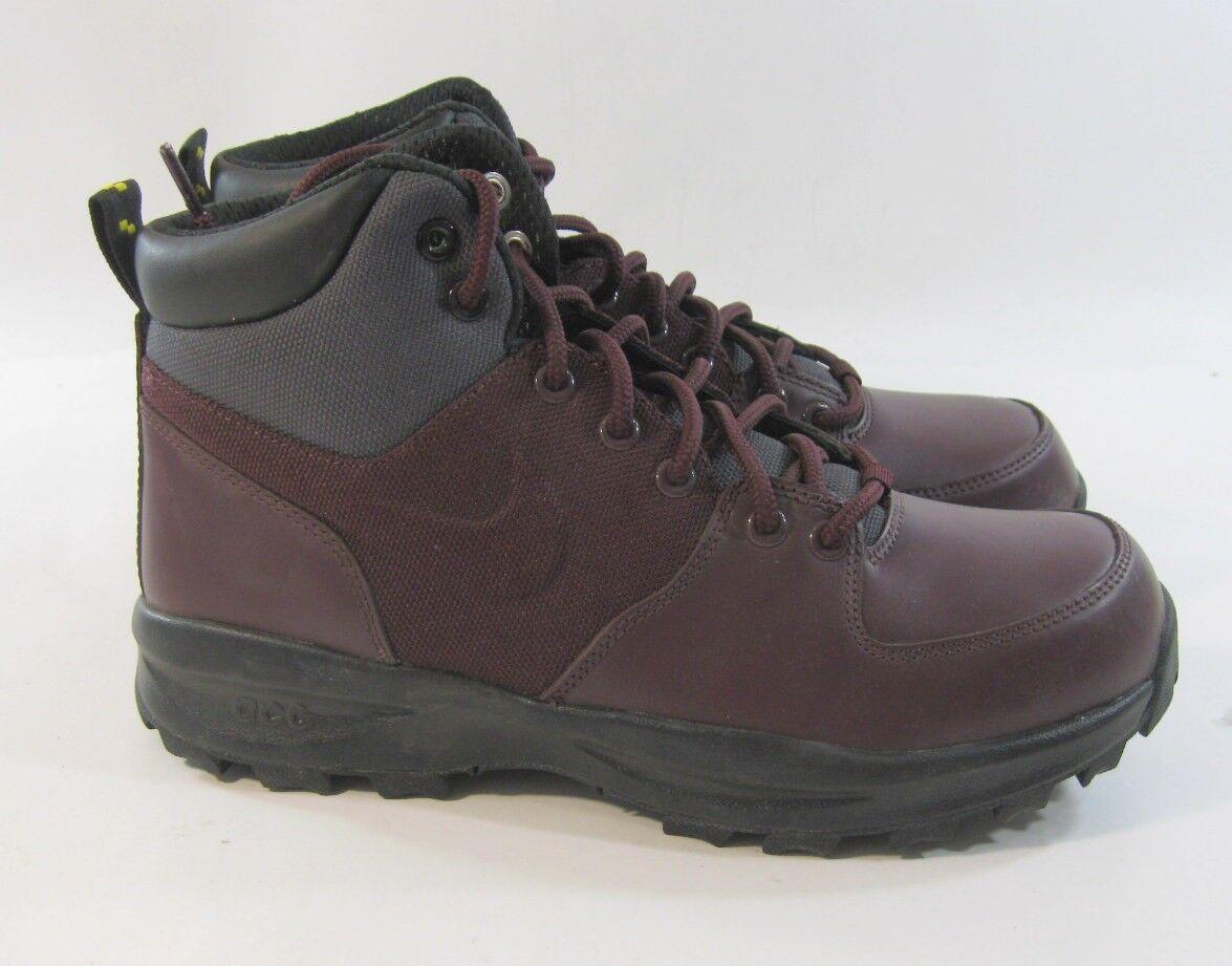 New Nike Manoa Deep Burgundy/Anthracite 472780 600 Uomo Athletic Size 8