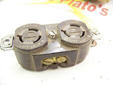 Hubbell Duplex Twist Lock Receptacle 15 amp 250 volt