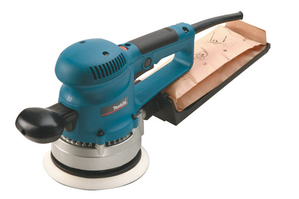 Makita Exzenterschleifer BO6030JX 150 mm inkl. Schleifpapier-Set im MAKPAC Gr. 3