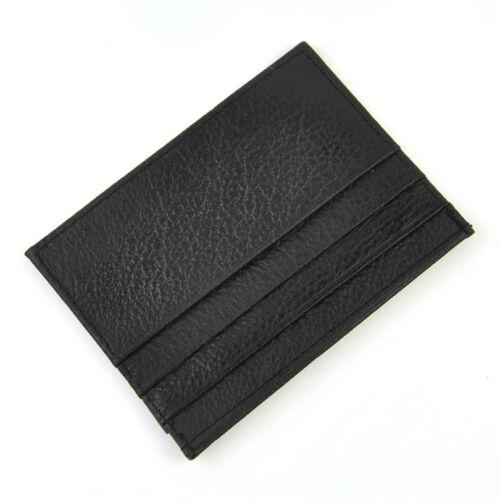 Genuine Leather Thin Wallet Slim Credit Card Holder Men Women Mini Small Purse