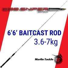 "SNIPER 338 Baitcast Fishing Rod 6'6"" 3.6-7kg Great for Bass, Barramundi, Cod etc"