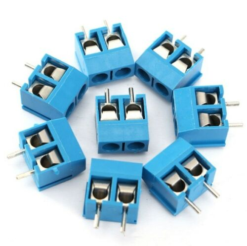 10//50PCS Panel KF301-2P KF301-3P Screw Terminal Block PCB Connector 5.08mm Pitch
