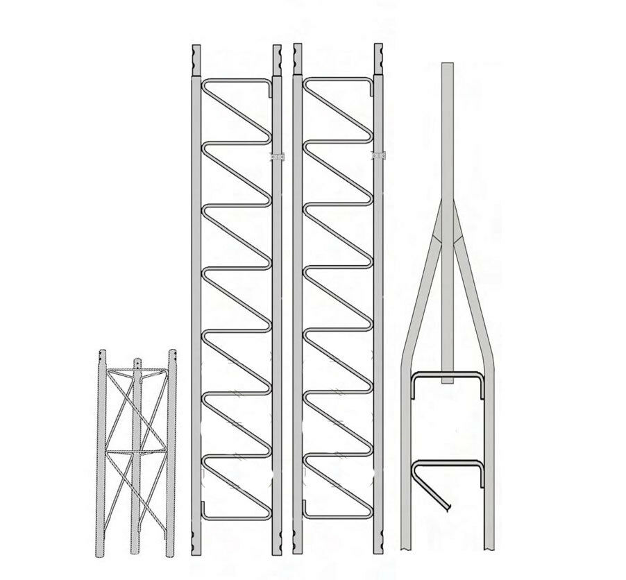 Rohn 25G Basic 30' Tower with 3' 4 SB25G Concrete Base . Available Now for 625.00