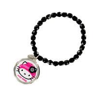 Tarina Tarantino Black Hello Kitty Pink Head Mod Charm Bracelet -50% Off
