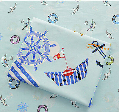 Blue Sea Fabric Pre-Cut Cotton Baby Quilt cloth Fabric for Sewing V06