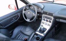 BMW Z-3 Z3 e36 INTERIOR SILVER BRUSHED ALUMINUM DASH TRIM KIT SET 2000 2001 2002