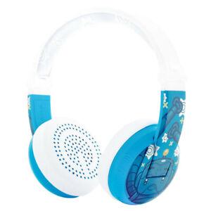 Buddyphones Wave Waterproof Wired/Wireless Bluetooth Kids Headphones Robot Blue