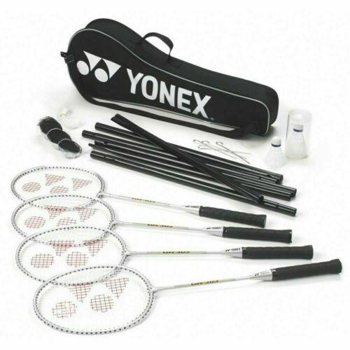 net Postes et sac YONEX 4 Player Jardin Badminton Set-raquettes