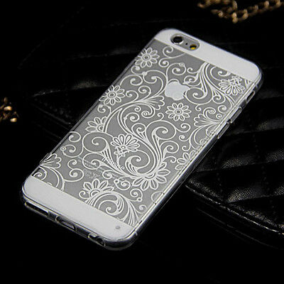 "Fine Silicone TPU Soft Vintage Clover Clear Case Cover For iPhone 5 5S 6 (4.7"")"